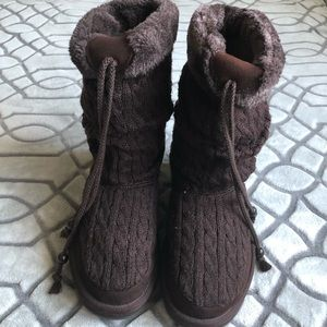 Skechers Australia Keepsakes Brown Knitted Boots